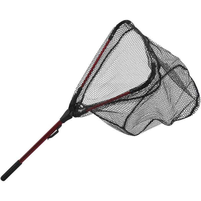 LEO 80Cm Retractable Aluminum Alloy Single Triangular Ultra Light Folding Handle Fishing Landing Net Fishing Lines     - title=