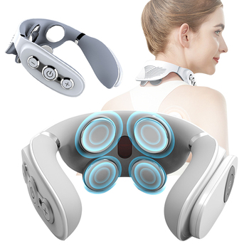 Smart Electric Neck and Shoulder Massager Low Magnetic Therapy Pulse Pain Relief Relaxation Vertebra Physiotherapy Health Care