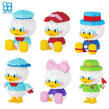 330 Uds + edificios de dibujos animados pato Mini figura lindo divertido micro diamante ladrillos modelo juguetes los niños 7131A