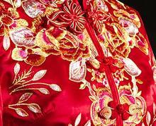 Nowa suknia ślubna chiński feniks korona przycisk tanie tanio ECTIC V-neck Krótki Organza Odpinany pociąg CN (pochodzenie) Powyżej kolana Mini Lace up Suknie ślubne Cap sleeve Okład
