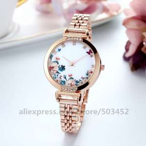 No-Logo Watches Butterfly Wholesale Fashion Round 100pcs/Lot Steel Factory-Price
