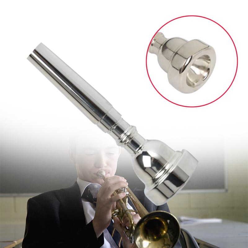 Trumpet Mouth Piece 3C/5C/7C Silver Plated Silvering Accessories For Bb