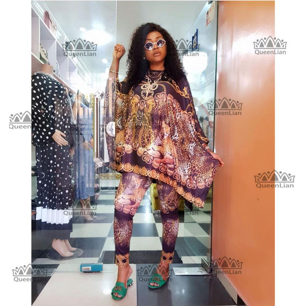 African Dashiki  New Fashion Suit (Top And Trousers)Super Elastic Party Plus Size For Lady BFTZ05#