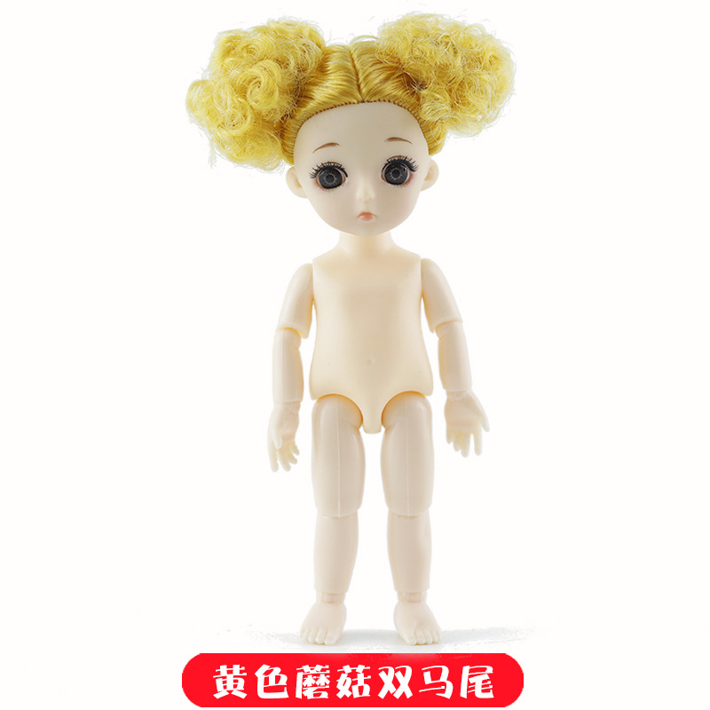 16cm 13 Movable Jointed BJD Dolls Toys Mini BJD Baby Girl Boy Doll Naked Nude Body 3D Eye Fashion Dolls Toy for Girls Gift 25
