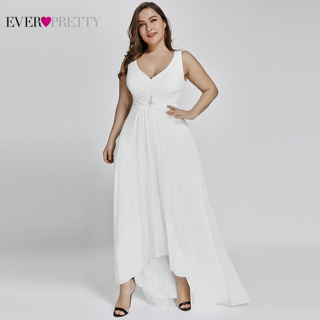 Plus Size Evening Dresses Long 2020 Elegant Burgundy A line Sleeveless Crystal High Low Ever Pretty Special Occasion Dresses