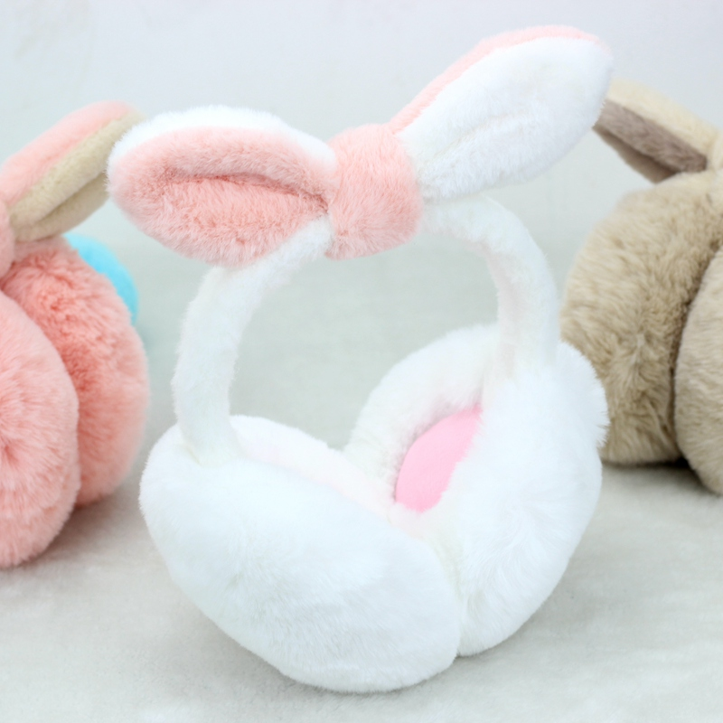 2019 New Arrival Ladies Girls Multicolour Earmuffs Cute Bowknot Furry Ear Muffs Comfy Soft Outdoor Winter AD0886