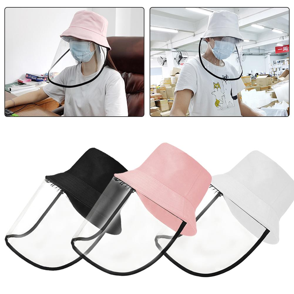 Anti-spitting Face Eyes Protective Fisherman Hat Dustproof Cover Cap With Transparent Shield Screen Mask Fishing Bucket Hat