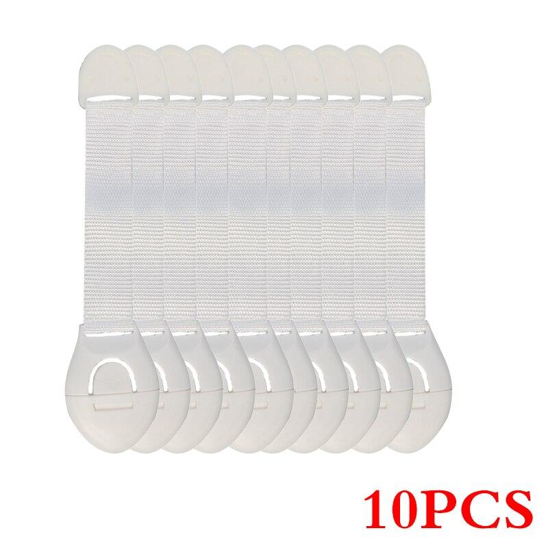 10 шт./лот защита от детей блокировка дверей для безопасности детей Детская безопасность пластиковая защита замок безопасности - Цвет: white