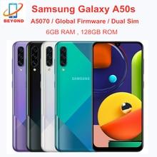 Samsung galaxy a50s duplo sim a5070 ram 6gb rom 128gb telefone móvel 6.4