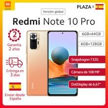 En Stock mundial versión Xiaomi Redmi Note 10 pro Smartphone Snapdragon 732G 108MP Cámara 6,67