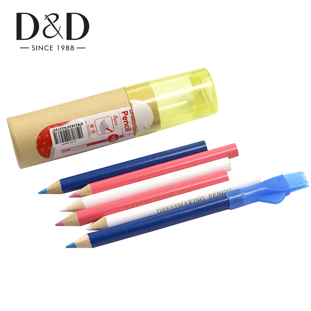 Tailor Mark Pencil Fabric Erasable Chalk Free Sewing Marker Tracing Pencil Dressmaker Craft Marking Sewing Accessories Pack of 12