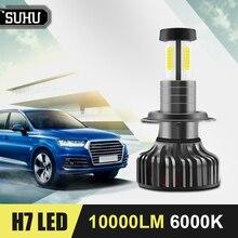 SUHU 2Pcs H7 LED Headlight Light Bulb 12V 24V High Or Low Beam 10000LM 6000K Fog Light Lamp Canbus Led Headlamp Bulb Accessories