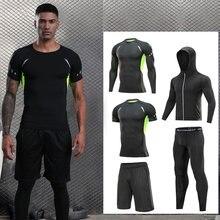 Roupa de corrida de secagem rápida roupa esportiva treino de jogging ginásio fitness track terno de boxe