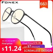 FONEX TR90 אנטי כחול אור משקפיים גברים משקפי Eyewear משקפיים משקפיים Antiblue משחקי מחשב משקפיים לנשים AB02