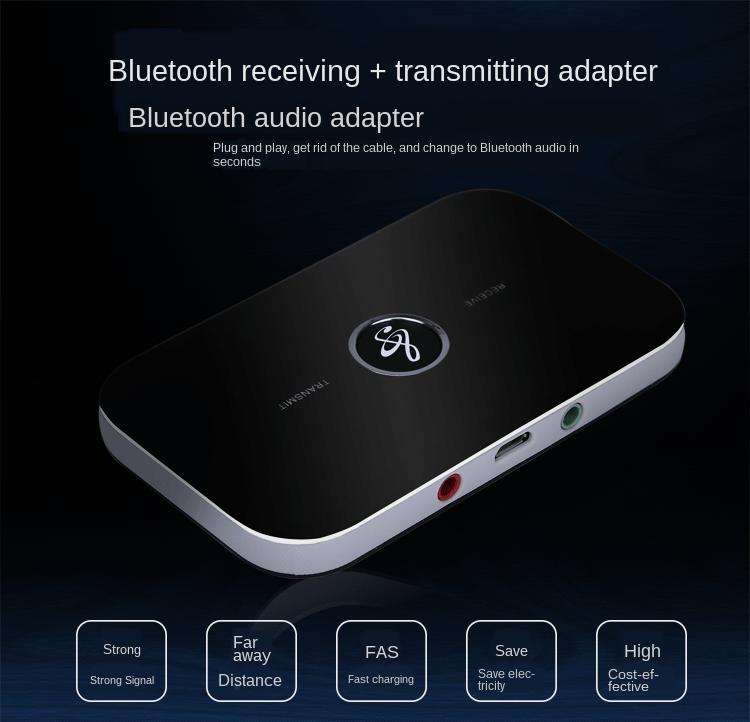 Приемник bluetooth 50 аудио 35 мм беспроводной музыкальный адаптер