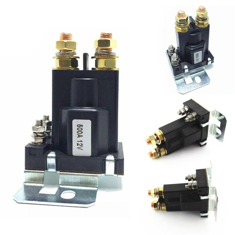 12 V/24VDC 500A treuil relais On/Off voiture Auto interrupteur dalimentation en plastique double Batteries isolateur