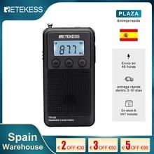 Retekess TR103 Portable Pocket Mini Radio FM / MW / Shortwave Radio Digital Tuning 9/10Khz MP3 Music Player Rechargeable Battery