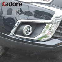 For Mitsubishi ASX SUV 2016 2017 Car Front Fog Lamp Light Cover Former Foglight Sheild Trim Exterior Accessories Chrome Styling