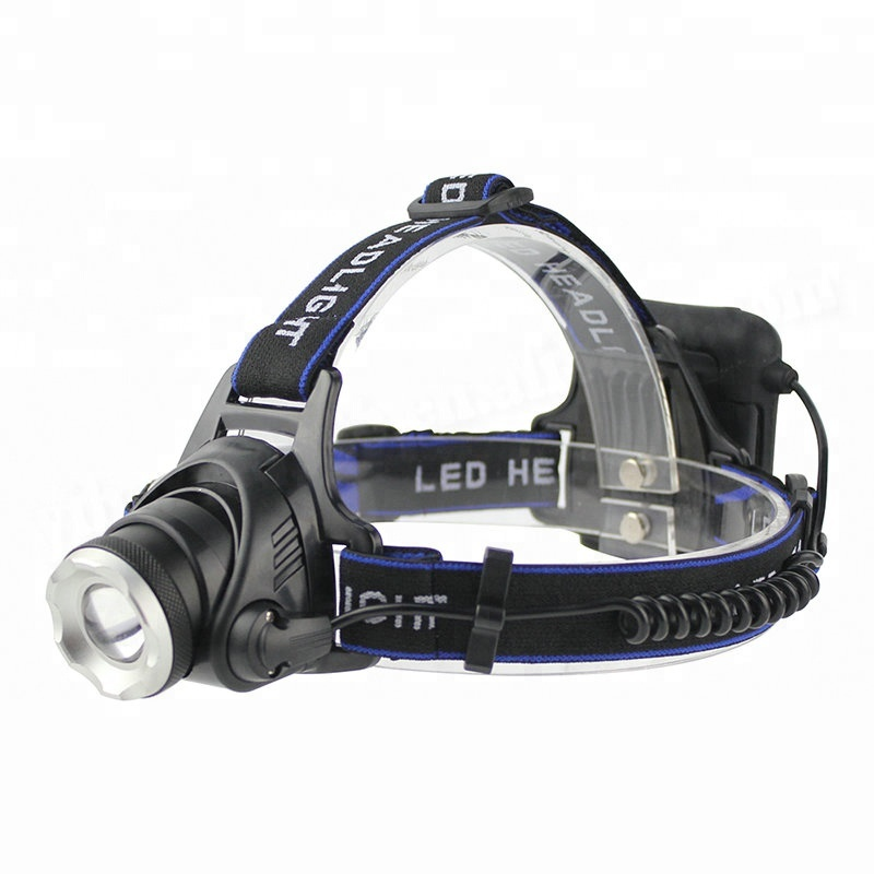 BORUiT XML T6 LED Headlamp 3-Mode Zoom Headlight High Power 3000LM Head Torch AA Battery Hunting Flashlight