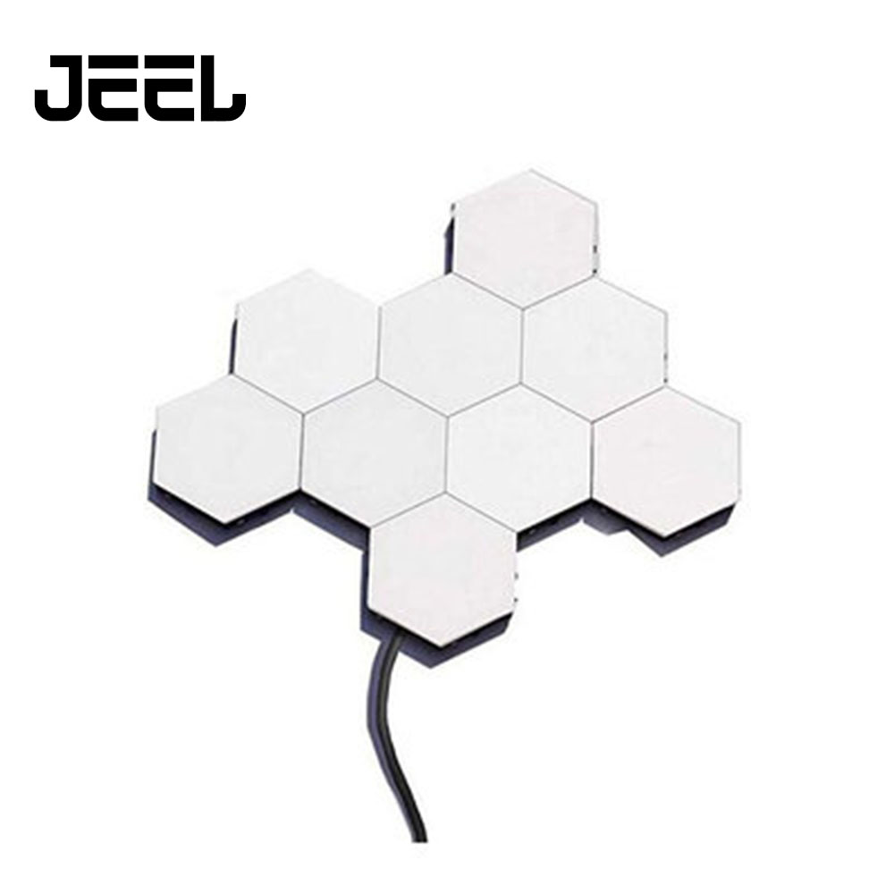 Quantum Lamp LED Modular Touch Lamp Touch Sensitive Wall Light Hexagonal Magnetic Tiles Night Lights Wall Sconce Bedside