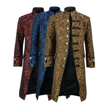 Men Edwardian Steampunk Trench Coat Frock Outwear Vintage Pr