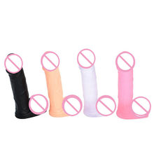 Lembut Silicone Jelly Dildo Suction Cup Dildo untuk Wanita Realistis Kecil Penis Anal Plug Penis Suction Cup Lesbian Mainan Seks(China)