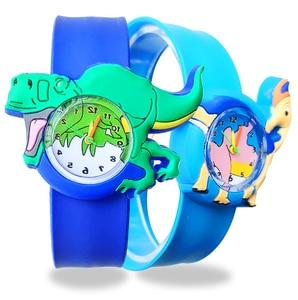 Детские часы, Детские Мультяшные игрушки, детский подарок, динозавр, аниме, потрепанные детские часы, силиконовый ремешок, Детские Кварцевы...