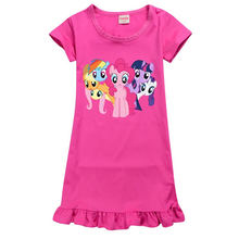 Летнее платье для девочек my pony повседневное летнее домашняя