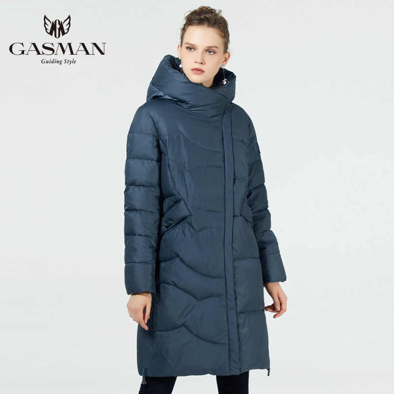 GASMAN 2019 women winter coat long plus size Fashion Parka Hooded Warm Jackets Female winter clothes women outerwear plus size