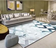 Fresh minimalist geometric pattern abstract ink bedroom living room carpet floor 3d painting wallpaper