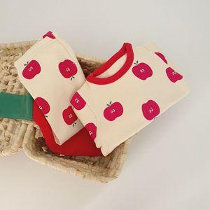 Image 2 - Bebê infantil conjunto de pijamas do bebê casa serviço pacote impressão roupa interior do bebê com chapéu recém nascido roupas da menina do bebê