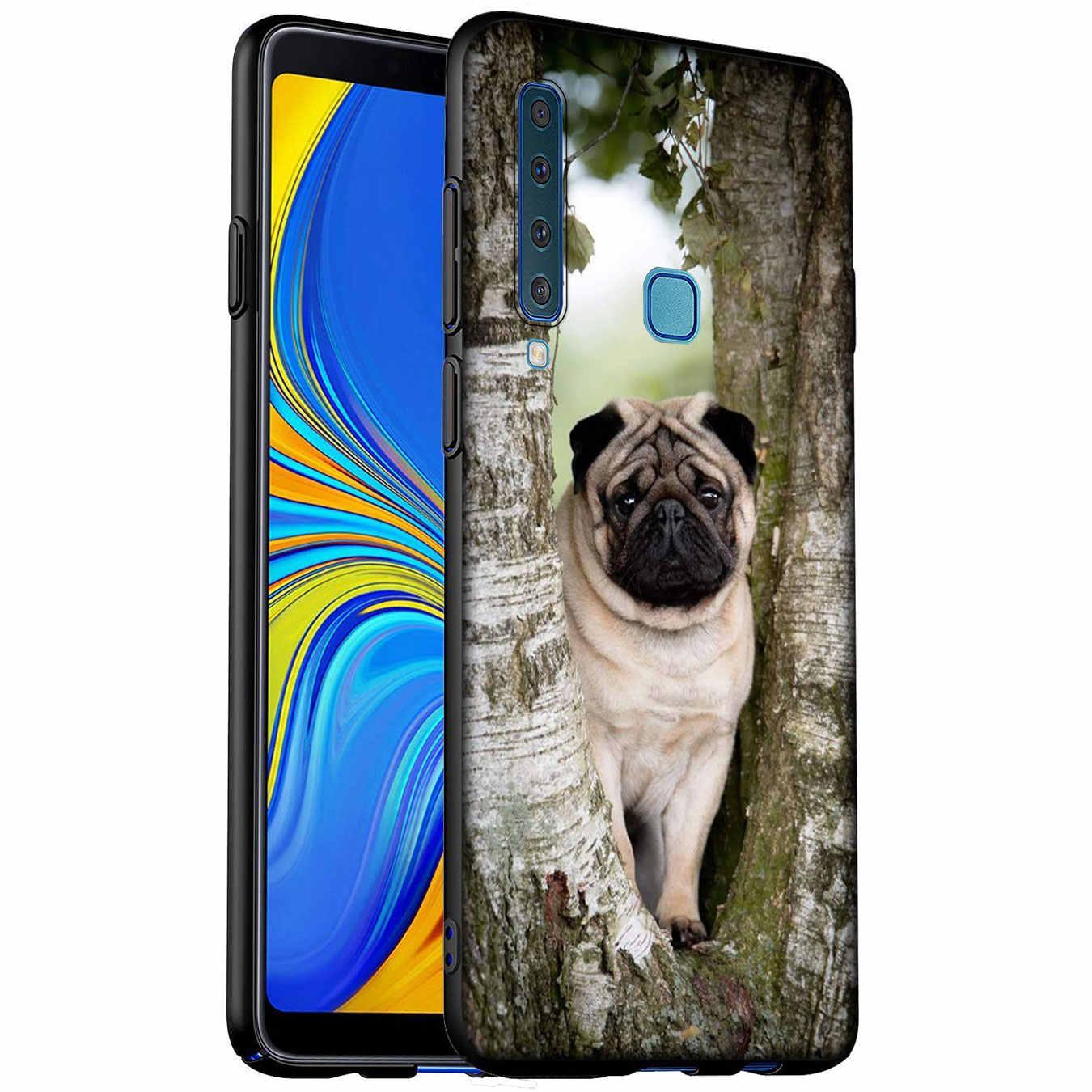 Cachorro Pug princesa Bulldog francés caso para Samsung Galaxy A51 A71 A81 A91 A41 A21 A11 A01 A2 Core J8 J7 J4 J6 Plus primer 2018