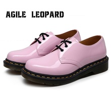 Agiel Leopard  Pink Women Flats Shoes Real Leather Loafers Fashion Platform Casual Shoes Woman Office Lady Footwear Size 35-44