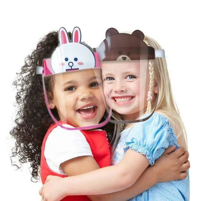 80pcs Children Kids Safety Virus Protective Face Shield Screen Mask Anti Spittle Anti Saliva Anti-Splash Anti Virus Face Mask