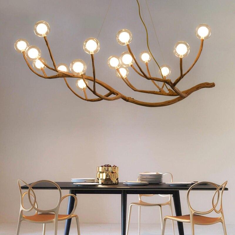 Creative Branch Chandelier Living Room Dining Room Bedroom Tea Room Solid Wood Chandelier