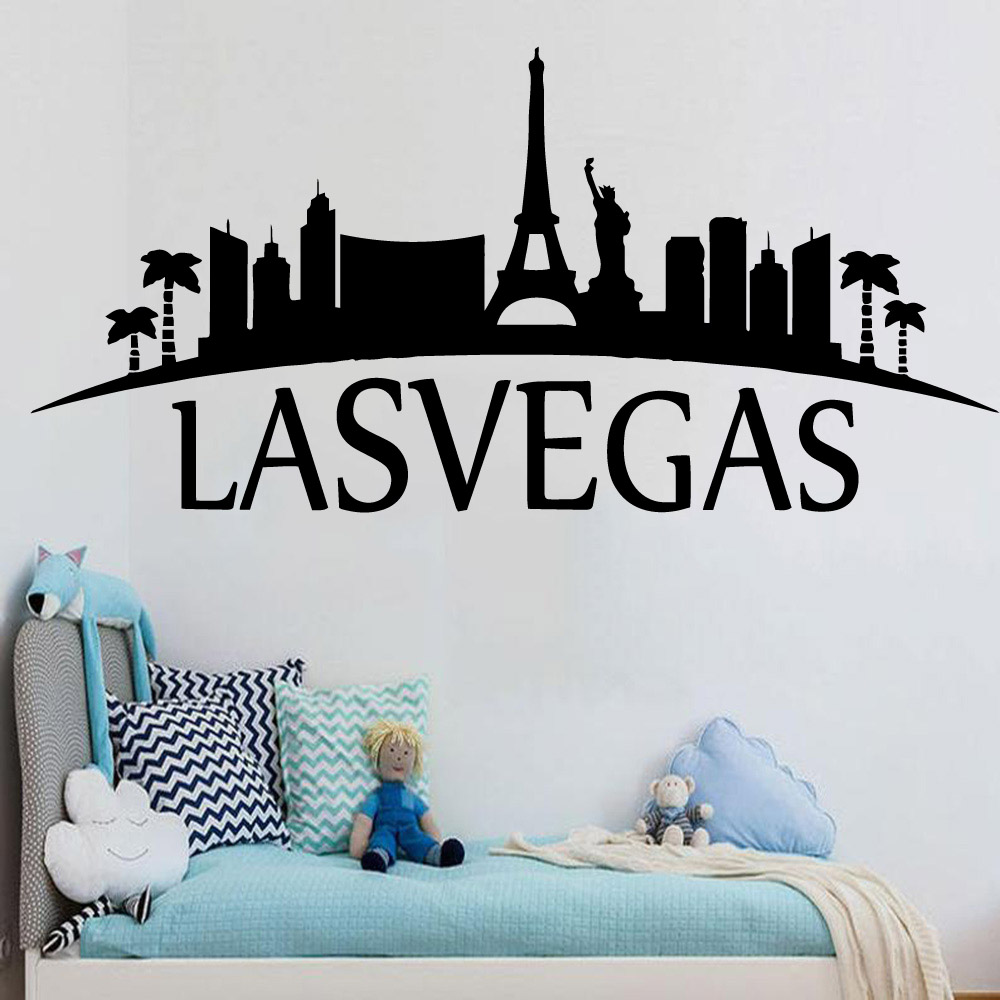 Free shipping <font><b>Lasvegas</b></font> Vinyl Kitchen Wall Stickers Wallpaper For Kids Rooms Diy Home Decoration Home Party Decor Wallpaper image