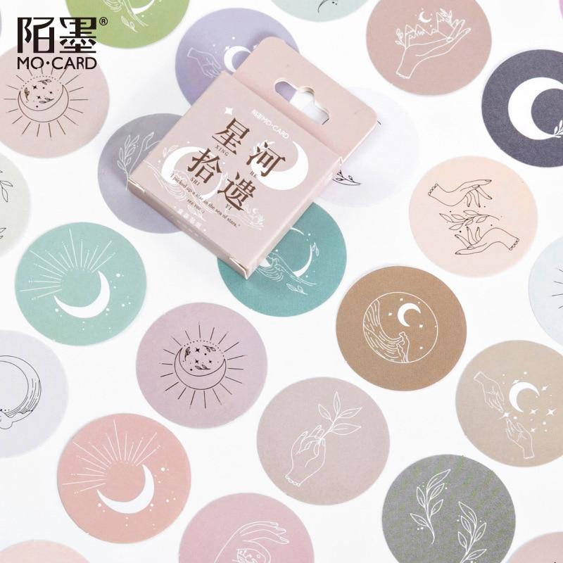 Стикеры бумажные в виде Луны и сердца, 45 цветов