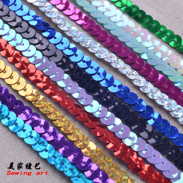 Jewelry Accessories 6mm Light Violet Connect Sequin Strip Beads Diy Sewing