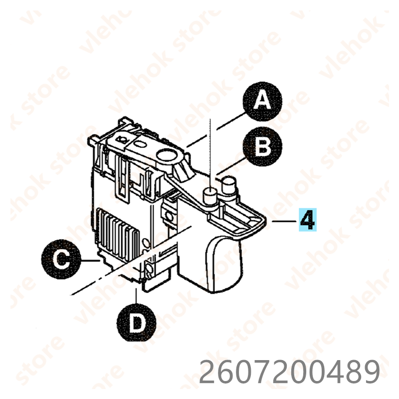 Switch For BOSCH GDR14.4V PDR14.4V PDR14.4V/N GDS14.4V  GDS18V GDS12V GDR18V GDR14.4V-LI PDR12V/NS GDR9.6V GDR12V 2607200489