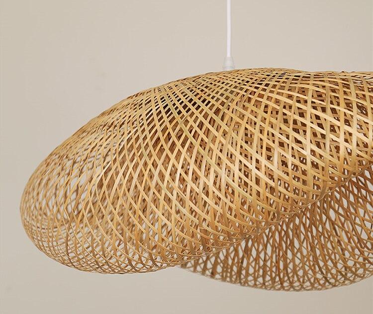 Modern bambo pendant lights Bamboo lamp Asia Restaurant Hotel pendant lamp for living room hanging kitchen