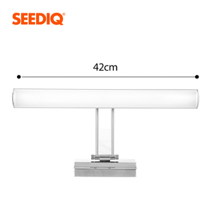Image 3 - Nowoczesne oświetlenie lustra Led kinkiet łazienka 12W 42CM AC 90 265V ze stali nierdzewnej wodoodporne oświetlenie naścienne Led lampka na toaletkę