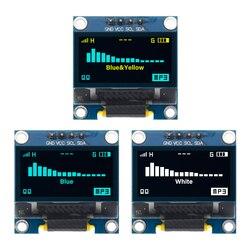 4pin 0,96 Blanco/azul/amarillo azul 0,96 pulgadas OLED 128X64 pantalla OLED módulo 0,96 IIC I2C comunicate para arduino