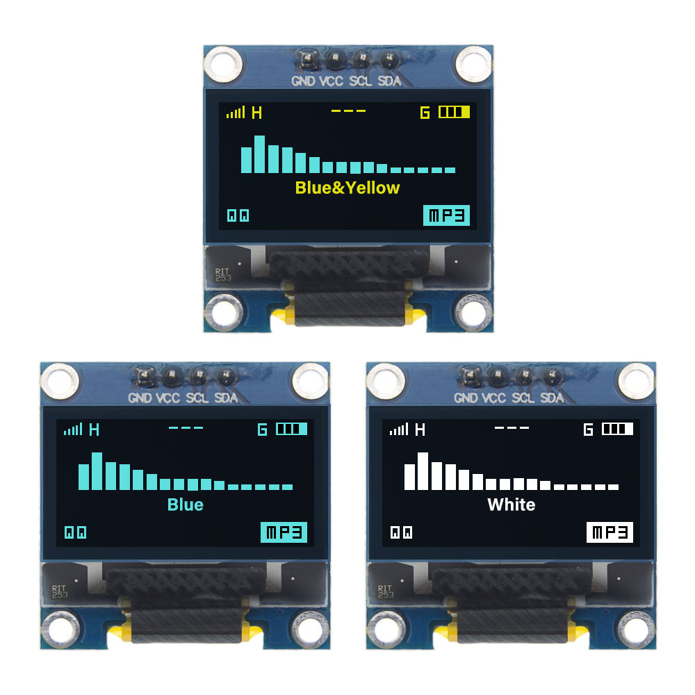 "4pin 0.96"" White/Blue/Yellow Blue 0.96 Inch OLED 128X64 OLED Display Module  0.96"" IIC I2C Communicate For Arduino"