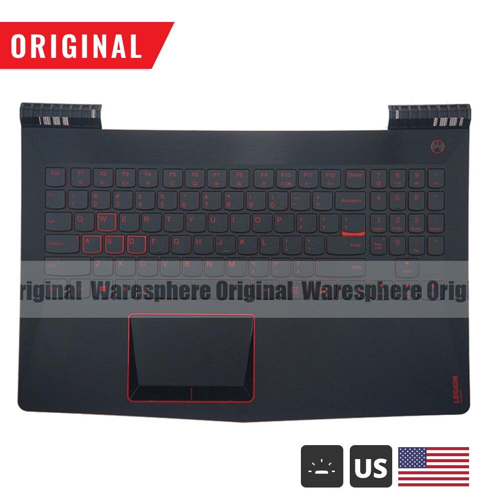 New Original Palmrest For Lenovo Legion Y520 R720 Y520-15 Y520-15IKB Top Cover Upper Case With US Backlit Keyboard