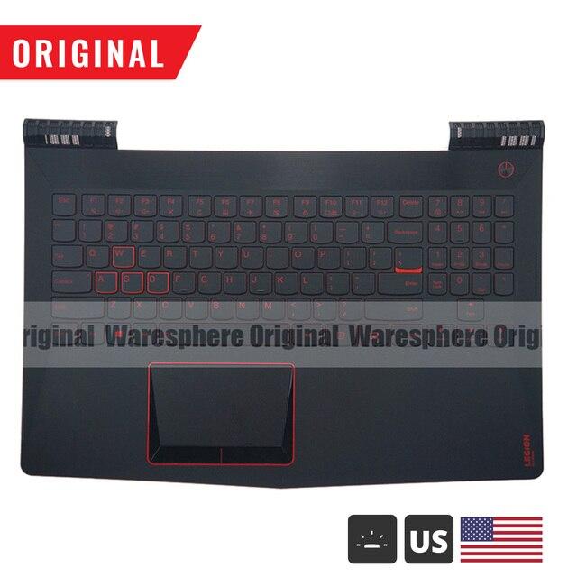جديد الأصلي Palmrest لينوفو فيلق Y520 R720 Y520 15 Y520 15IKB الغطاء العلوي العلوي مع الولايات المتحدة الخلفية لوحة المفاتيح