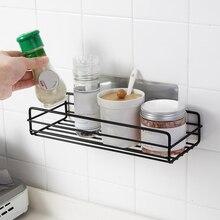 Soco Livre Sabão Shampoo Prateleira Fixado Na Parede Do Chuveiro Do Banheiro Cesta De Armazenamento Organizador de Armazenamento Material de Cozinha Rack de Drenagem Rack de Novo