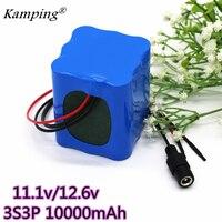 KAM PING 12V lithium ion batteries 3S3P 8Ah 10mAh 11.1V/12.6V 18650 with BMS for backup power supply of LED lamps, etc.