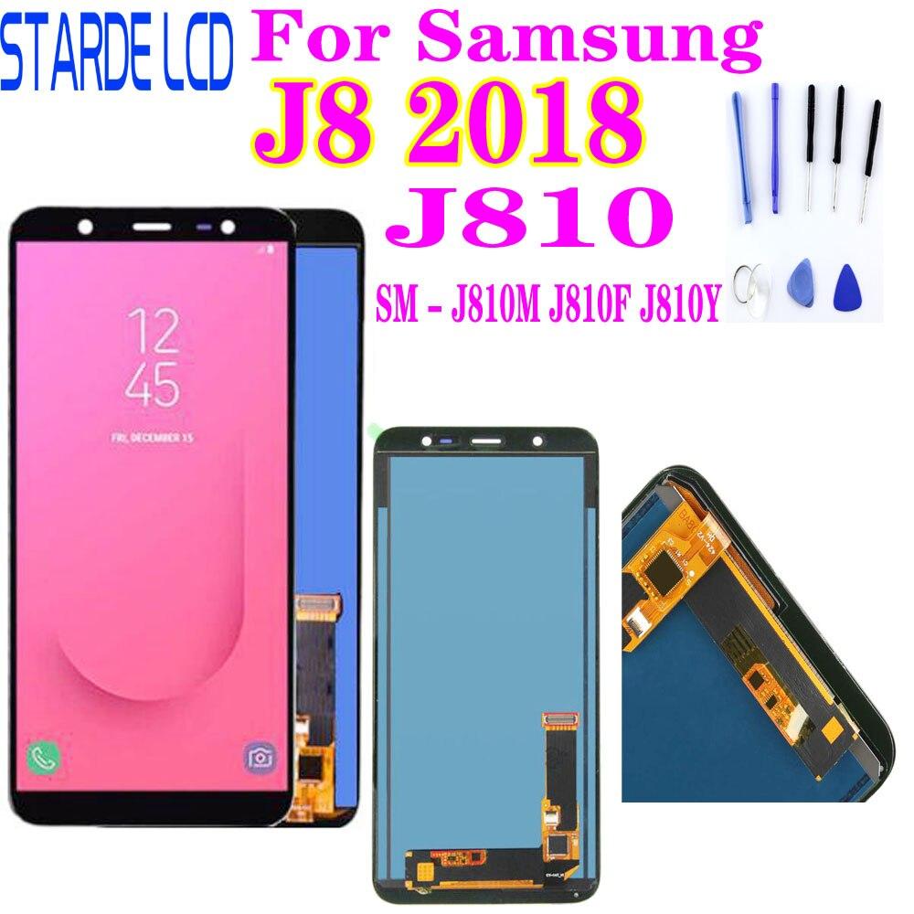Cep telefonları ve Telekomünikasyon Ürünleri'ten Cep Telefonu LCD'leri'de 5.8 ''Samsung Galaxy J8 2018 J810 LCD ekran dokunmatik ekran SM J810M J810F J810Y ekran değiştirme title=