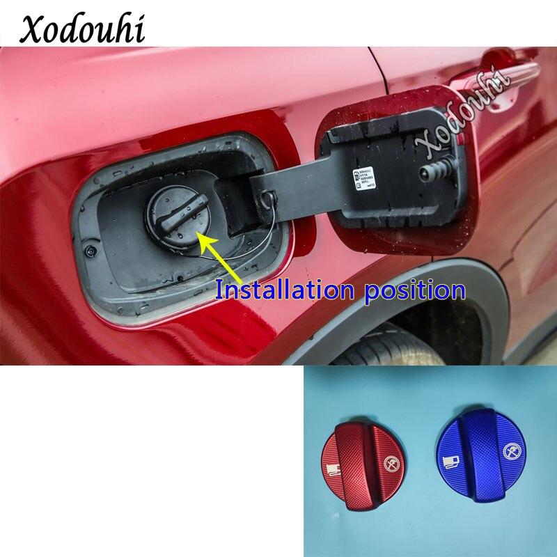 Car Inner Gas/Fuel/Oil Tank Cover Cap Sticker Trim Frame For Cadillac ATS-L XT4 XT5 XT6 XTS CT5 CT6 CTS Escalade Ciel 1pcs