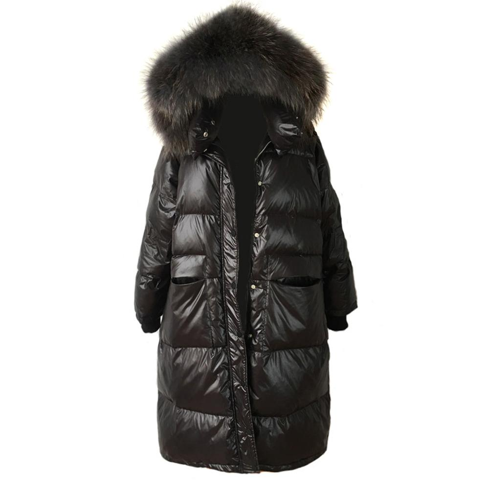 New Winter Womens Lady Duck Down Real Fur Hooded Warm Thicken Coat Jacket Parka